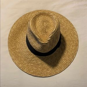 Brixton Joanna hat size M in tan with black strap